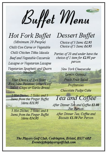 Buffet Menu 2